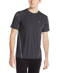 Calvin Klein - Adaptive Taped Striped Performance Shirt - Lyst