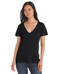 Splendid - Jersey Short-sleeve V-neck T-shirt - Lyst