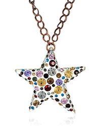 Betsey Johnson - Confetti Mixed Multi-colored Stone Lucite Star Long Pendant Necklace - Lyst