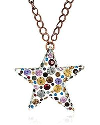 "Betsey Johnson - ""confetti"" Mixed Multi-colored Stone Lucite Star Long Pendant Necklace - Lyst"