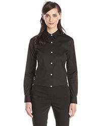 Theory - Tenia Luxe Cotton Button Down Shirt - Lyst