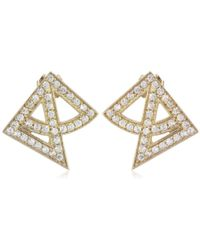 Campbell - Gold-plated Arch Stud Earrings - Lyst