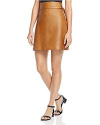 French Connection - Goldenburg Leather Skirt - Lyst