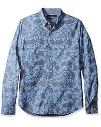 Nautica - Long Sleeve Slim Fit Printed Button Down Shirt - Lyst