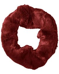 Badgley Mischka - Faux Chinchilla Double Face Neck Warmer Scarf - Lyst
