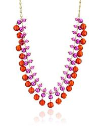 "Kate Spade - ""on The Ave"" Ruby-color Multi Color Long Necklace - Lyst"