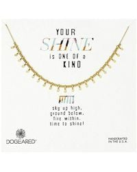"""Dogeared - Your Shine Is One Of A Kind Petal Chain Necklace, 18"""" - Lyst"""
