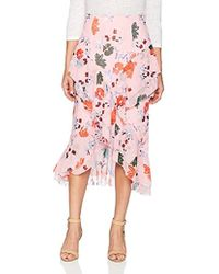 C/meo Collective - Elude Ruffle Detail Hi Low Midi Skirt - Lyst