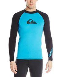 Quiksilver - Time Long Sleeve Rashguard Swim Shirt Upf 50+ - Lyst