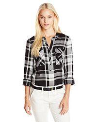 Kensie - Yarn Dyed Plaid Shirt - Lyst