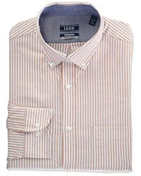 Izod - Slim Fit Collegiate Stripe Buttondown Collar Dress Shirt - Lyst