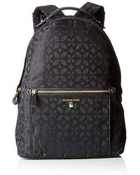 62b456531564 MICHAEL Michael Kors Kelsey Large Velvet Backpack in Black - Lyst