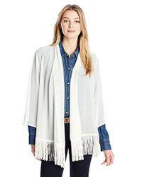 Wrangler - Premium Shirt Kimon Style Vanilla Ice Cardigan - Lyst