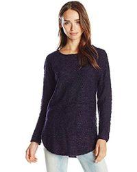 Jessica Simpson - Kitten Hi-low Shirt Tail Sweater-black - Lyst