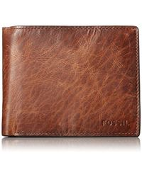 Fossil - Derrick Large Coin Pocket Bifold - Lyst