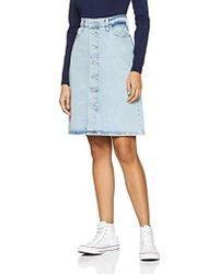 Levi's A Line Midi Button Skirt, Falda para Mujer - Azul