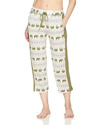 Ellen Tracy - Printed Cropped Pajama Pant - Lyst