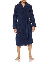 Calvin Klein Herren Bademantel Robe - Blau