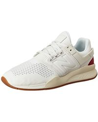 ecb60e000b14 Lyst - New Balance 247 Luxe Sneakers In Suede in White for Men