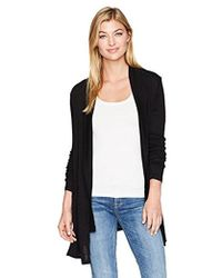Michael Stars - Supima Cotton Slub Shawl Collar Cardigan - Lyst