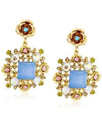 """Betsey Johnson - """"queen Bee"""" Faceted Bead Ornate Drop Earrings - Lyst"""