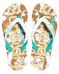 332565fccf442a Superdry Printed Cork Flip Flops in White - Lyst