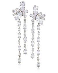 Nina - Jewelry Spring 2018 S E-genoa Earrings, Rhodium/white Cz - Lyst