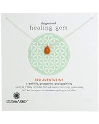 Dogeared - Lasting Healing Gems Red Aventurine Pendant Necklace - Lyst
