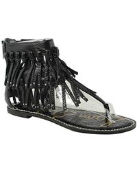 f1729a7860609 Lyst - Sam Edelman Gilroy Strappy Sandal in Black