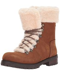 d287728c4608 Lyst - UGG Chestnut Fraser Real Fur Lace-up Boots in Brown