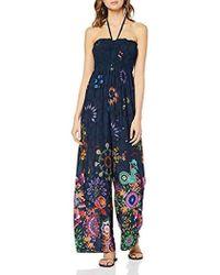 Desigual - Dress Swimwear Iye Woman Blue Mono Largo para Mujer - Lyst