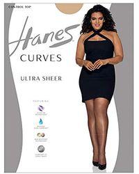 Hanes - Plus Size Curves Ultra Sheer Legwear - Lyst