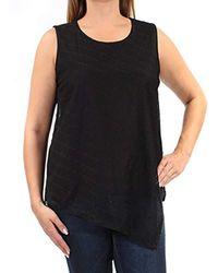 877c2660fc0dc Lyst - Calvin Klein Womens Printed Sleeveless Tank Top in Black