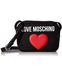 16d8ba69369 Love Moschino Phoebe Pink Mini Heart Cross-body Bag in Pink - Lyst