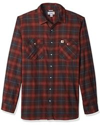 Carhartt - Big And Tall Rugged Flex Hamilton Snap-front Plaid Shirt - Lyst