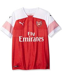 4809468ce Lyst - PUMA 2017 18 Arsenal Home Replica Jersey in Red for Men