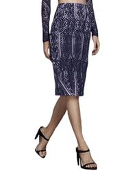StyleStalker - Vivid Lace Skirt In Navy - Lyst
