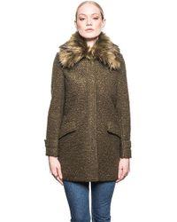 John + Jenn - Ludwig Faux Fur Jacket In Moss - Lyst