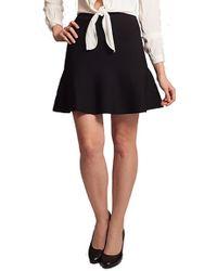 John + Jenn - John + Jenn By Line Havana Fit & Flare Mini Skirt In Black - Lyst