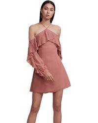 e04597fe92f Keepsake - Keepsake Last Dance Long Sleeve Mini Dress In Spice - Lyst