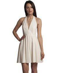 Blaque Label - Halter Flare Dress In White - Lyst