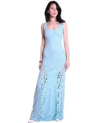Sky Clothing Collection - Sky Wilmotte Eyelet   Lace Maxi Dress In Mist -  Lyst 592c58519