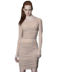 Sheri Bodell | Crystal Illusion Dress | Lyst