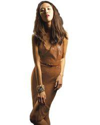 Sheri Bodell | Faux Suede Dress In Cognac | Lyst
