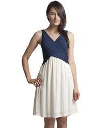 Amadi - Lola Dress In Navy & Ivory - Lyst