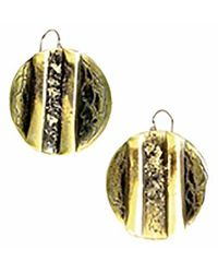 Sibilla G Jewelry | Sibilla G Oxidized Brass Circle Earrings | Lyst