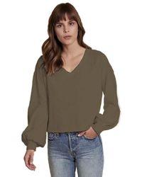 Nation Ltd - Willa Bishop Sleeve Cocoon Top In Fatigue - Lyst