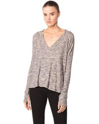 Feel The Piece - By Terre Jacobs Paulina Top In Grey Marle - Lyst