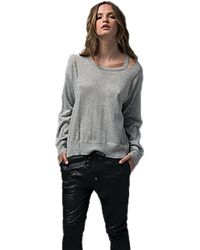 Sen Collection | Vasayan Cashmere Sweater With Cut Outs In Slate Blue | Lyst