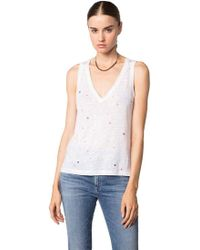Feel The Piece - By Terre Jacobs Alix Perforated Top In White - Lyst